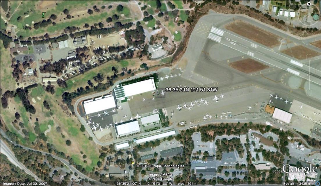 Monterey Jet Center, Monterey Airport, Monterey, California.