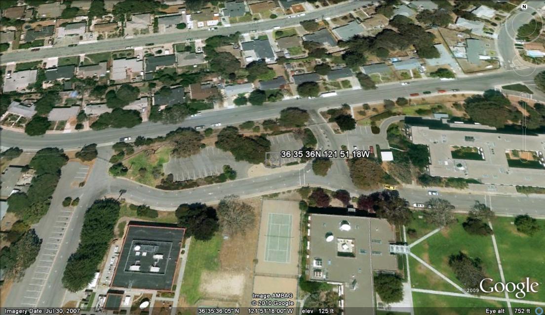NRL Monterey Parking Lot